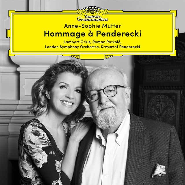 Album cover for Hommage à Penderecki by Krzysztof Penderecki, Anne-Sophie Mutter, Roman Patkoló, Lambert Orkis, London Symphony Orchestra