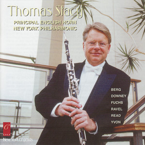 Thomas Stacy plays Fuchs, Berg, Ravel, Downey, Yvon and Read album