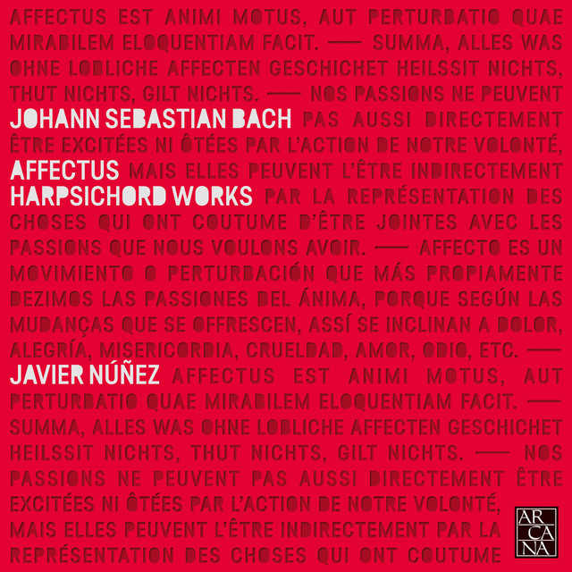 Album cover for Affectus: Harpsichord Works of J.S. Bach by Johann Sebastian Bach, Javier Nuñez