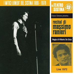 Recital di Massimo Ranieri (I lunedì del sistina - live 1972) album