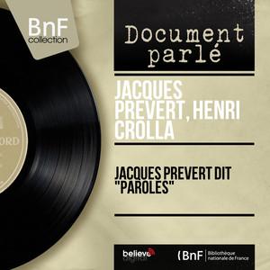 """Jacques Prévert dit """"Paroles"""" (Mono version) album"""