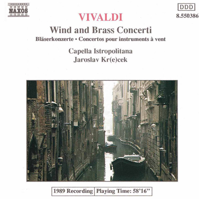 Vivaldi: Wind and Brass Concertos Albumcover