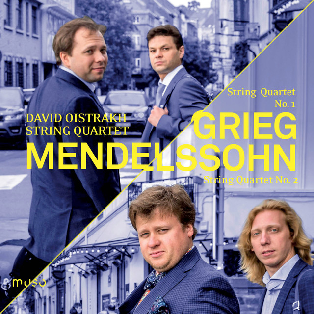Album cover for Grieg: String Quartet No. 1 - Mendelssohn: String Quartet No. 2 by David Oistrakh String Quartet