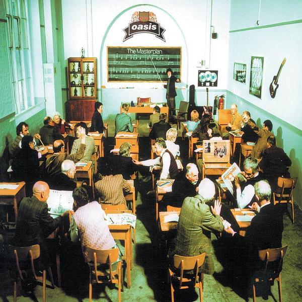 Skivomslag för Oasis: The Masterplan