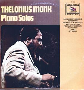 Thelonius Monk: Piano Solos Albumcover