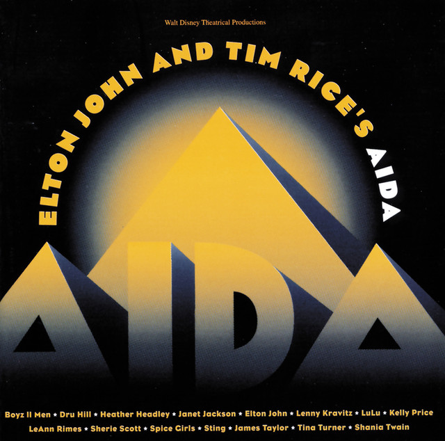 Elton John, Tim Rice AIDA album cover