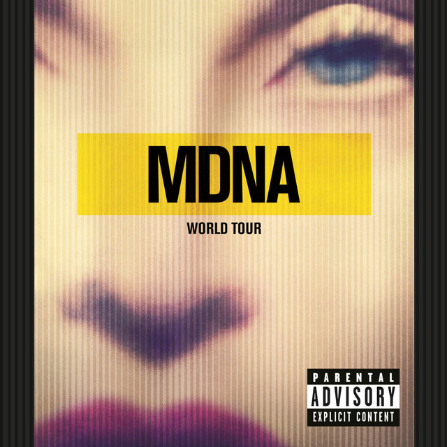 Madonna MDNA World Tour album cover