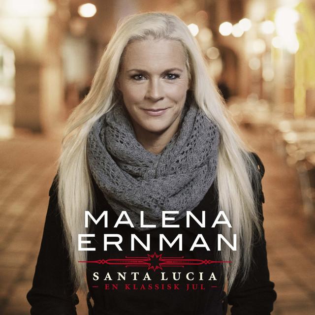 Skivomslag för Malena Ernman: Santa Lucia - En Klassisk Jul