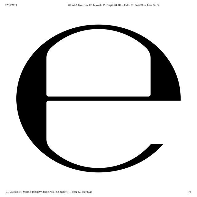 Album cover for E by Ecco2k