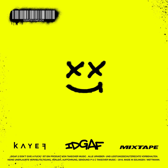 Album cover for IDGAF Mixtape by KAYEF