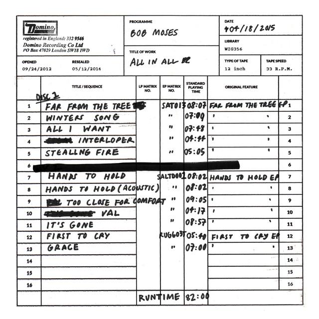 Bob Moses - All I Want image cover