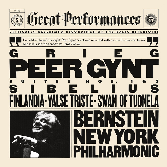 Grieg: Peer Gynt Suite No. 1 & No. 2 & Sibelius: Finlandia & Valse Triste & The Swan of Tuonela Albumcover