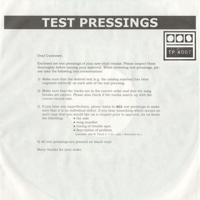 Testpressing#007