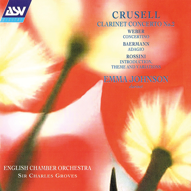 Crusell: Clarinet Concerto No. 2 / Weber: Concertino / Rossini: Introduction, Theme and Variations Albumcover