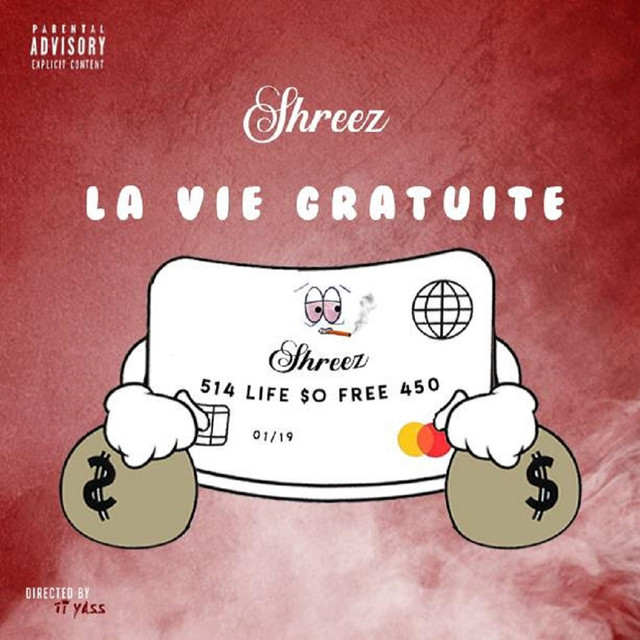 Album cover for La Vie Gratuite by Shreez