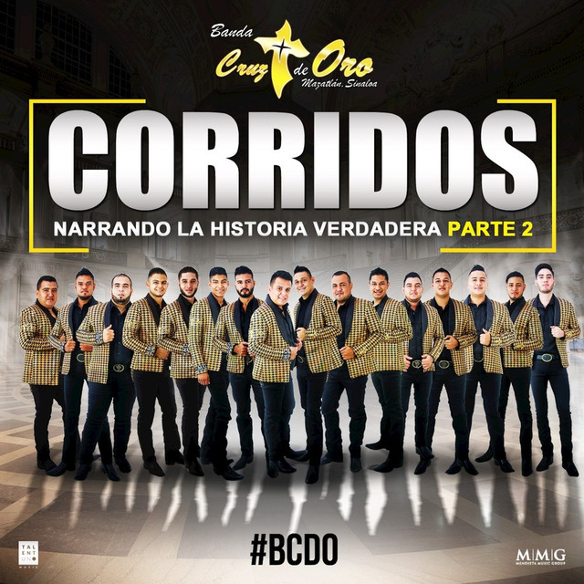 Album cover for Corridos Narrando la Verdadera Historia, Pt. 2 by Banda Cruz de Oro