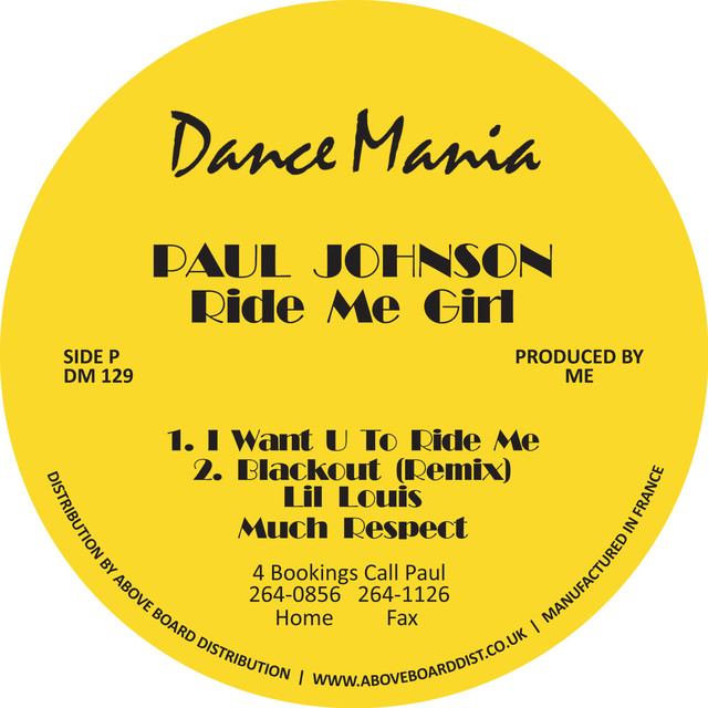 I want you to ride me - Paul Johnson