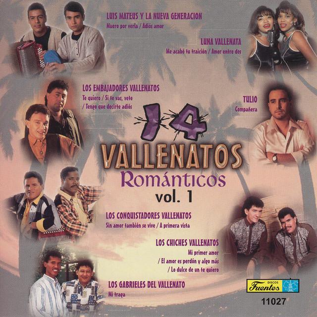 14 Vallenatos Románticos, Vol. 1 Albumcover