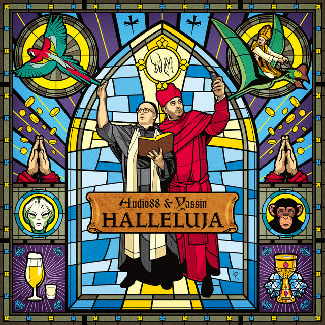 Album cover for Halleluja by Audio88, Yassin