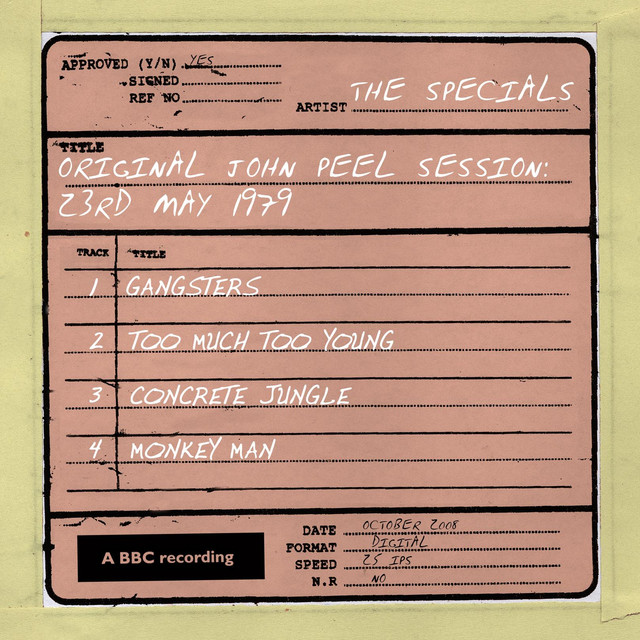The Specials John Peel Session (23 May 1979) album cover