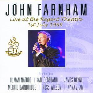 John Farnham Live At The Regent Theatre album