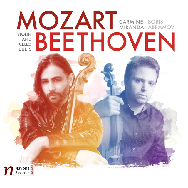 Album cover for Mozart & Beethoven: Violin & Cello Duets by Boris Abramov, Carmine Miranda