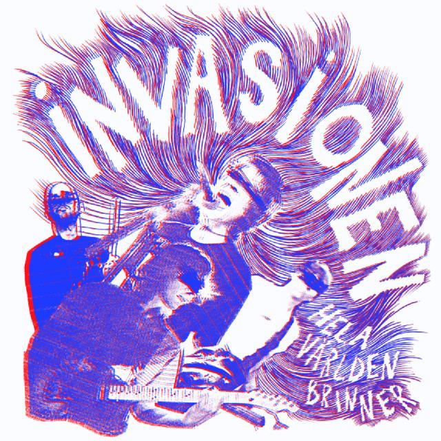 Skivomslag för Invasionen: Hela Världen Brinner