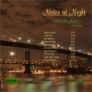 Notes At Night (Smooth Jazz & Funky) Albumcover