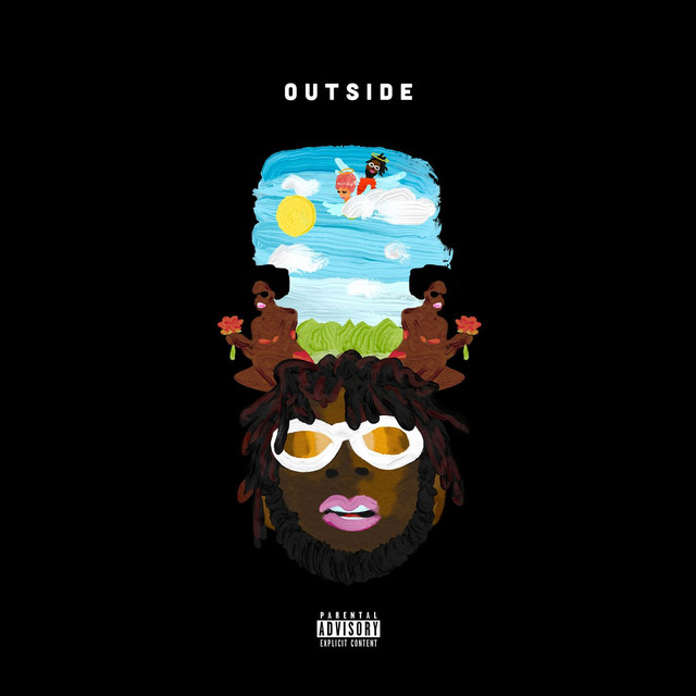 Album cover for Outside by Burna Boy