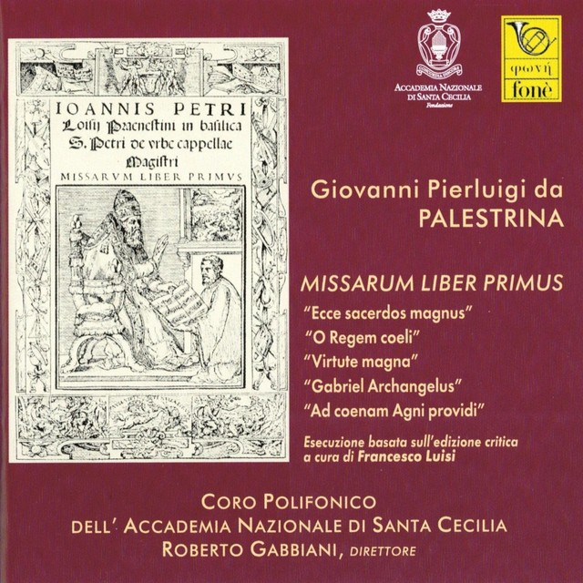 Giovanni Pierluigi da Palestrina, Missarum liber primus Albumcover
