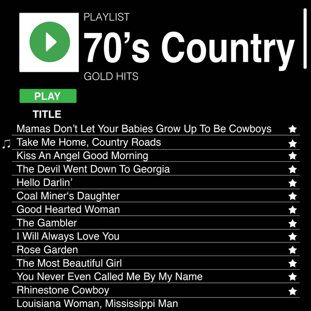 70's Country Gold Hits by Various Artists on Spotify