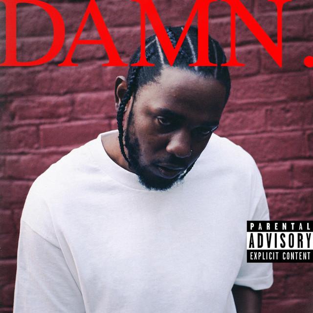 Skivomslag för Kendrick Lamar: DAMN.