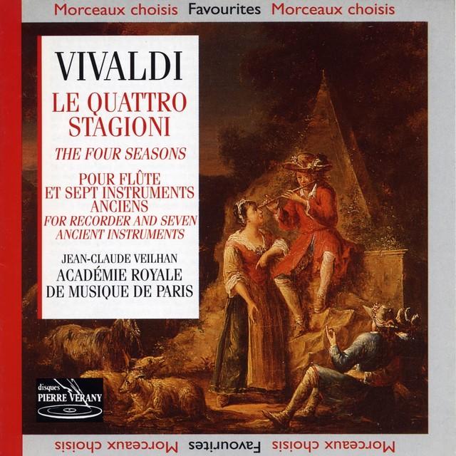 Vivaldi : Le Quattro Stagioni pour flûte et 7 instruments anciens Albumcover