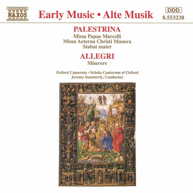 Palestrina: Missa Papae Marcelli / Allegri: Miserere Albumcover