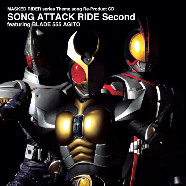 MASKED RIDER series Theme song Re-Product CD SONG ATTACK RIDE Second