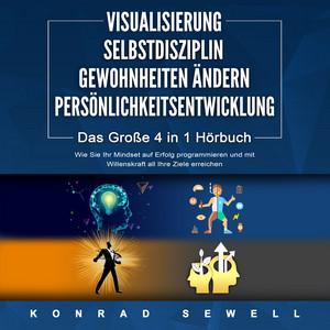 Visualisierung / Selbstdisziplin / Gewohnheiten ÄNDERN / Persönlichkeitsentwicklung (Das Große 4 in 1 Buch: Wie Sie Ihr Mindset auf Erfolg programmieren und mit Willenskraft all Ihre Ziele erreichen) Audiobook
