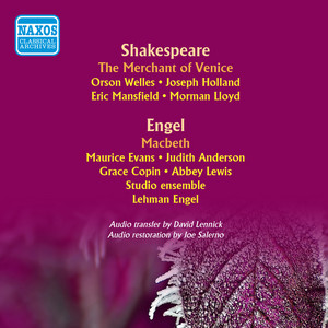 The Merchant of Venice (adapted by Orson Wells; music by Elliott Carter): Act II Scene 2: Venice - A Public Place cover art
