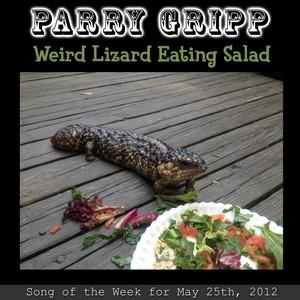 Weird Lizard Eating Salad