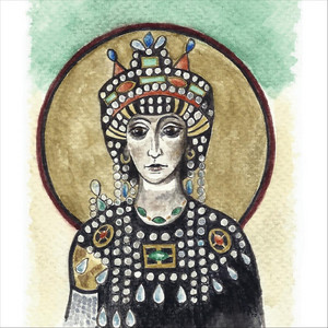 Theodora in Green and Gold