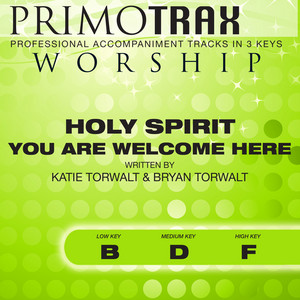 Holy Spirit You Are Welcome Here (Medium Key: D - Without Backing Vocals) [Performance Backing Track] cover art