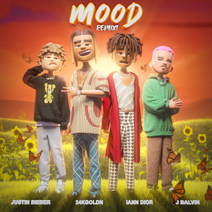 Mood (Remix) Justin Bieber, J Balvin & iann dior cover art