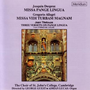Missa Pange lingua: VI. Benedictus cover art