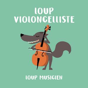 Loup violoncelliste - Collection Loup Musicien