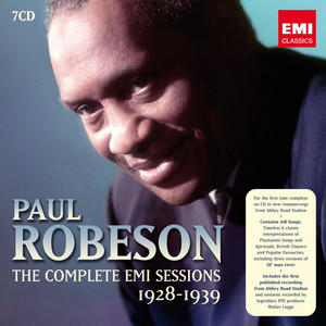 Paul Robeson: The Complete EMI Sessions 1928-1939 album