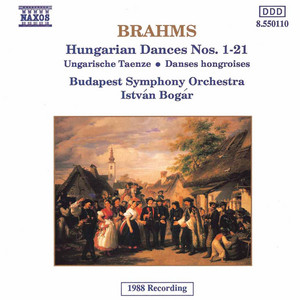 21 Hungarian Dances, WoO 1 (version for orchestra): Hungarian Dance No. 5 (orch. Schmeling) by Johannes Brahms, Budapest Symphony Orchestra, Istvan Bogar