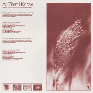 All That I Know cover art