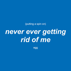 Putting a Spin on Never Ever Getting Rid of Me