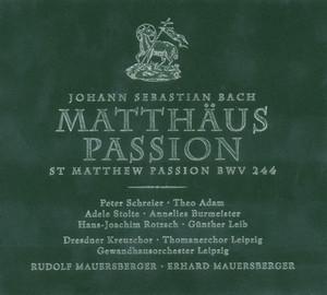 J. S. Bach: Matthäus-Passion/Zweiter Teil/Aus Liebe will mein Heiland sterben (Arie) by Gewandhausorchester Leipzig, Adele Stolte, Rudolf Mauersberger