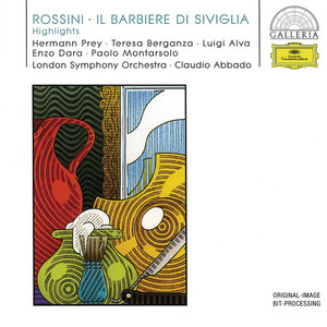 """Il barbiere di Siviglia / Act 1: """"Largo al factotum"""" by Gioachino Rossini, Hermann Prey, London Symphony Orchestra, Claudio Abbado"""