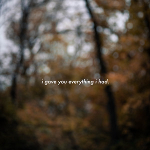 i gave you everything i had cover art